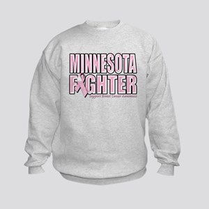 Minnesota Breast Cancer Fighter Kids Sweatshirt