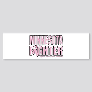 Minnesota Breast Cancer Fighter Sticker (Bumper)