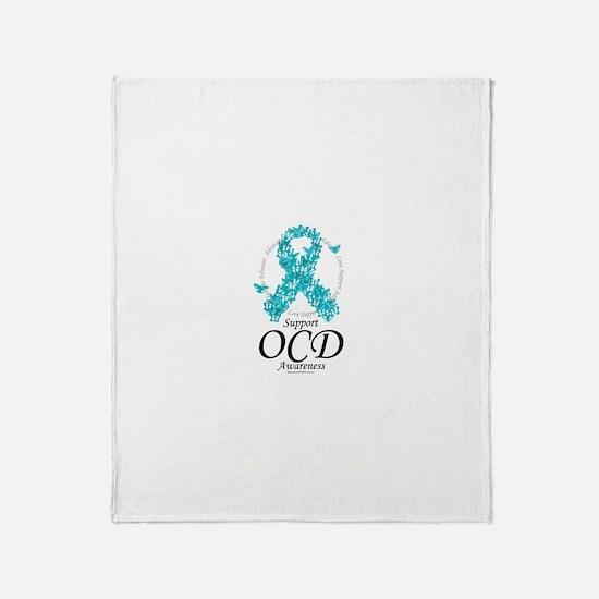 OCD Ribbon of Butterflies Throw Blanket