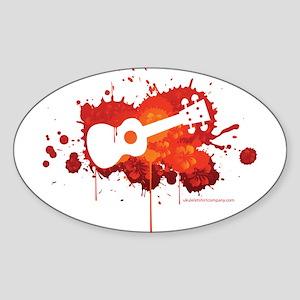 Ukulele Splash Sticker (Oval)
