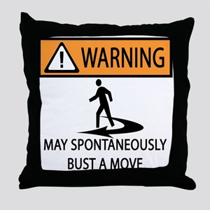 Spontaneous Dancer Throw Pillow