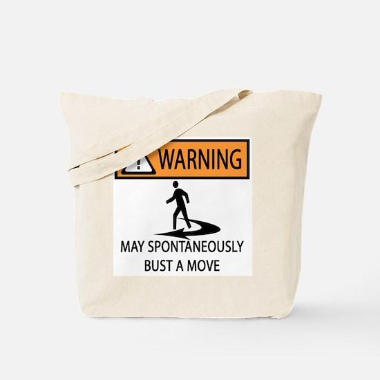 Spontaneous Dancer Tote Bag
