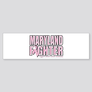 Maryland Breast Cancer Fighter Sticker (Bumper)