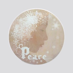 Peace (Snow Angel) Ornament (Round)