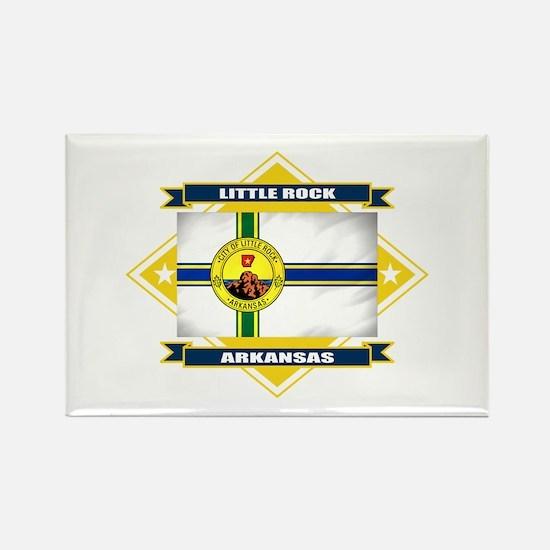 Little Rock Flag Rectangle Magnet