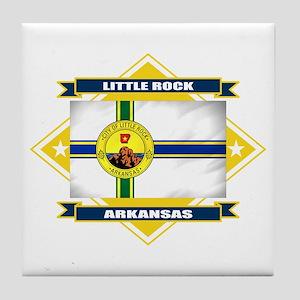 Little Rock Flag Tile Coaster