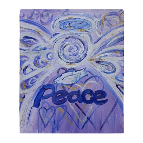Peace Angel Throw Blanket