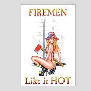 Firemen Like it HOT! Postcards (Package of 8)