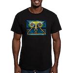 Dance Mask Men's Fitted T-Shirt (dark)