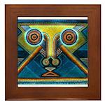 Dance Mask Framed Tile