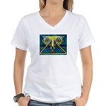 Dance Mask Women's V-Neck T-Shirt
