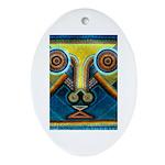 Dance Mask Ornament (Oval)