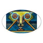 Dance Mask Sticker (Oval)