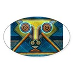 Dance Mask Sticker (Oval 10 pk)