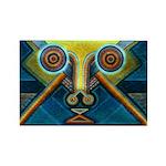 Dance Mask Rectangle Magnet