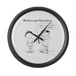 Hollywood Playdates Large Wall Clock