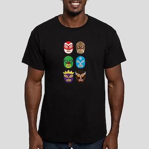 Lucha Libre Navidad Men's Fitted T-Shirt (dark)