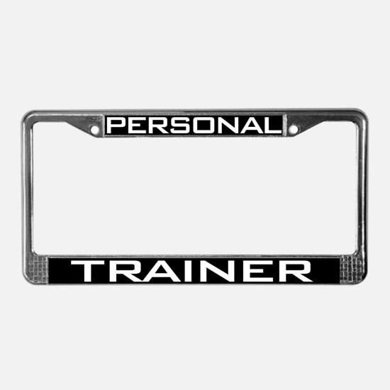 Personal Trainer License Plate Frame
