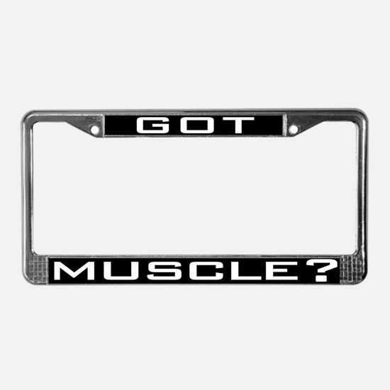 Funny Gym License Plate Frame
