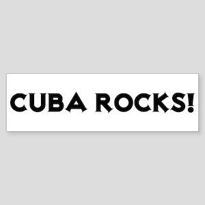 Cuba Rocks! Bumper Sticker