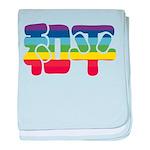 Chinese Rainbow Peace symbol baby blanket