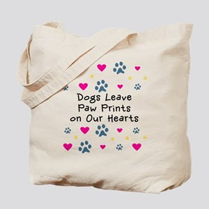 Dogs Leave Paw Prints Tote Bag