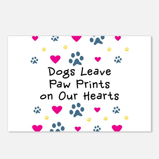 Dogs Leave Paw Prints Postcards (Package of 8)