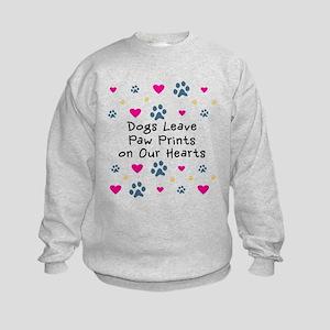 Dogs Leave Paw Prints Kids Sweatshirt