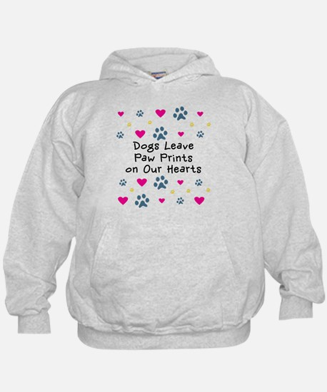 Dogs Leave Paw Prints Hoodie