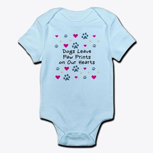 Dogs Leave Paw Prints Infant Bodysuit