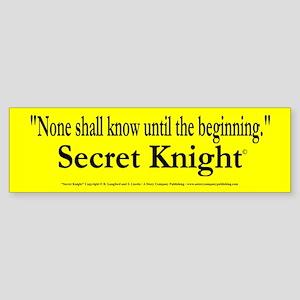 Secret Knight Sticker (Bumper)