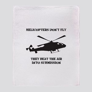 Helicopter Submission STYLE B Throw Blanket