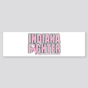 Indiana Breast Cancer Fighter Sticker (Bumper)