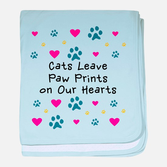 Cats Leave Paw Prints baby blanket