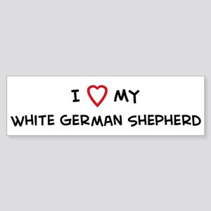 I Love White German Shepherd Bumper Sticker