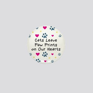 Cats Leave Paw Prints Mini Button