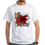 Blood in, Blood out MMA White T-Shirt