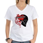 MMA Addict, In the Blood Women's V-Neck T-Shirt
