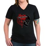 MMA Addict, In the Blood Women's V-Neck Dark T-Shi