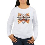Vale Tudo, Fists & Flames Women's Long Sleeve T-Sh