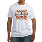 Vale Tudo, Fists & Flames Fitted T-Shirt