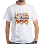 Vale Tudo, Fists & Flames White T-Shirt