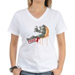 Fist, free to good home MMA Women's V-Neck T-Shirt
