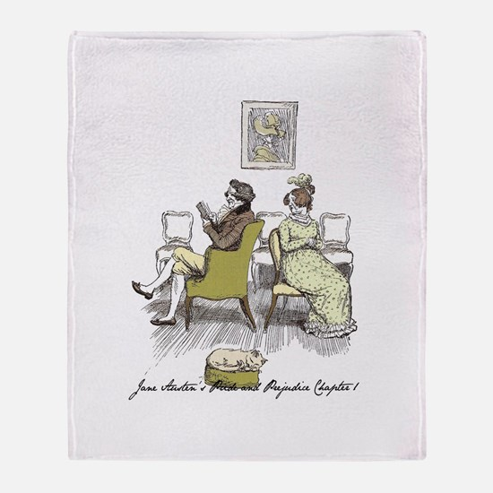 Pride and Prejudice Chapter 1 Throw Blanket