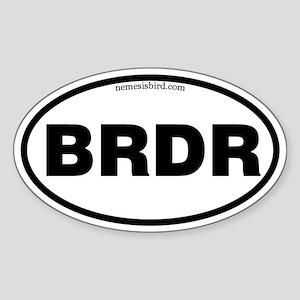 Birder Oval Sticker