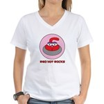 Red Hot Rocks - Women's V-Neck T-Shirt