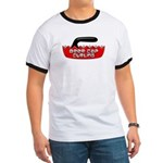 Beer Cap Curling - Ringer T