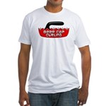 Beer Cap Curling - Fitted T-Shirt