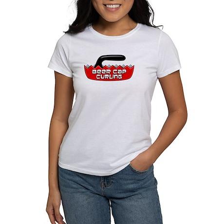 Beer Cap Curling - Women's T-Shirt