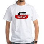 Beer Cap Curling - Plain T-Shirt